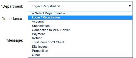 TrustZone Customer Registration