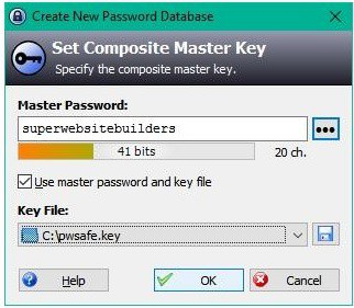 Keepass setup