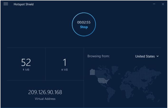 hotspotshield connection test