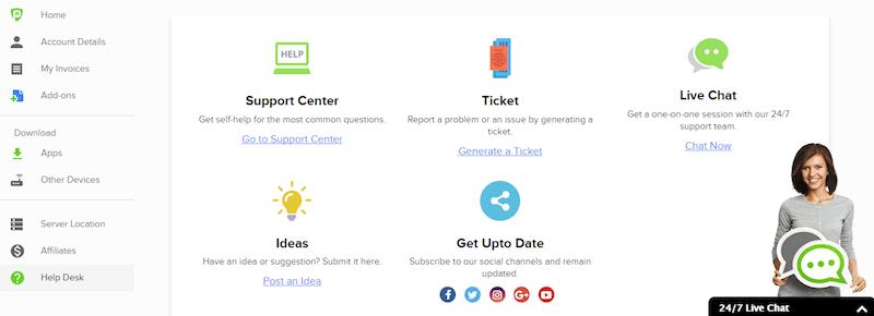 purevpn support platform