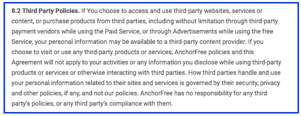 betternet third party policy