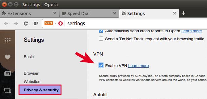 opera vpn browser badge enable
