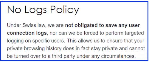 protonvpn no logs policy