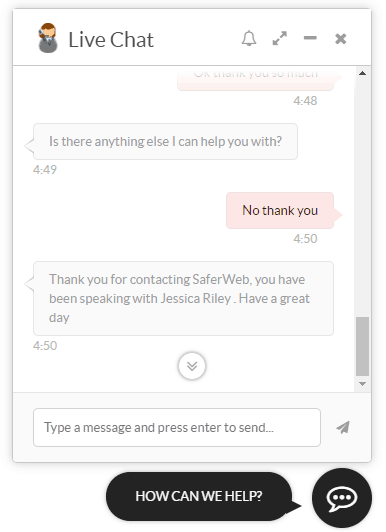 saferweb live support