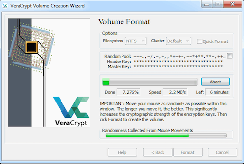 veracrypt encryption volume