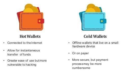 hot vs cold wallets