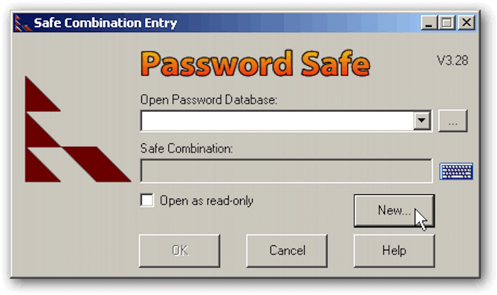 password safe new entry