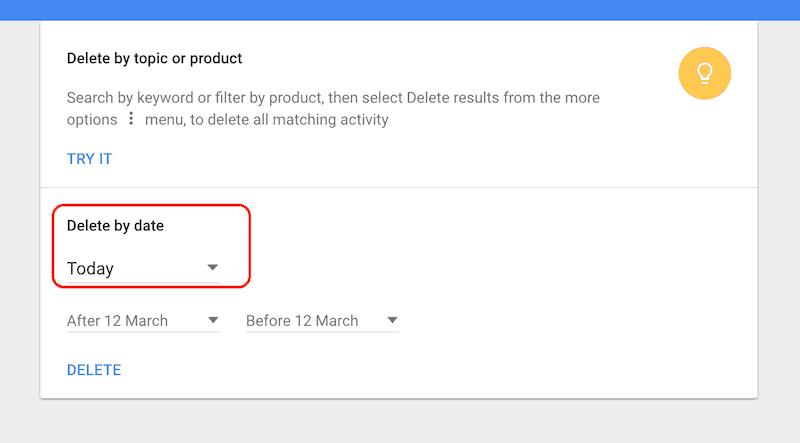 google deleting topic