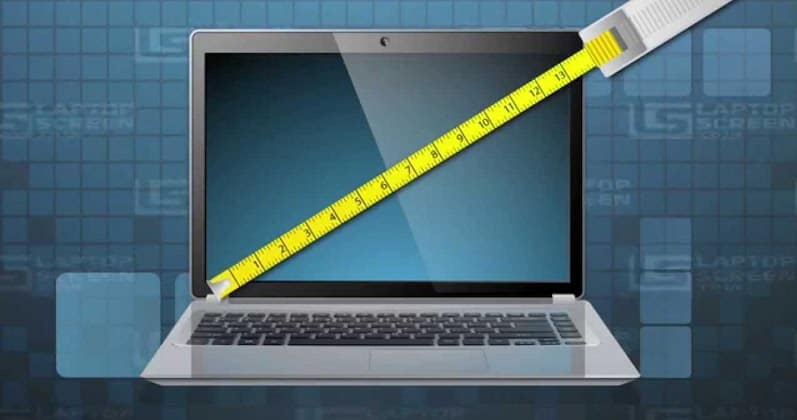 laptop screen measuring