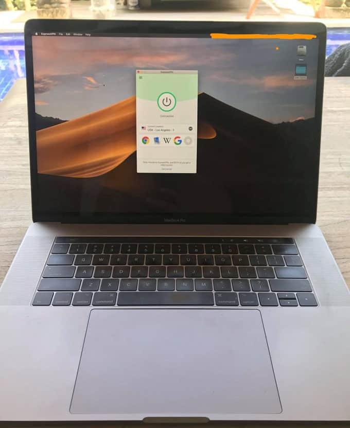 testing on my laptop