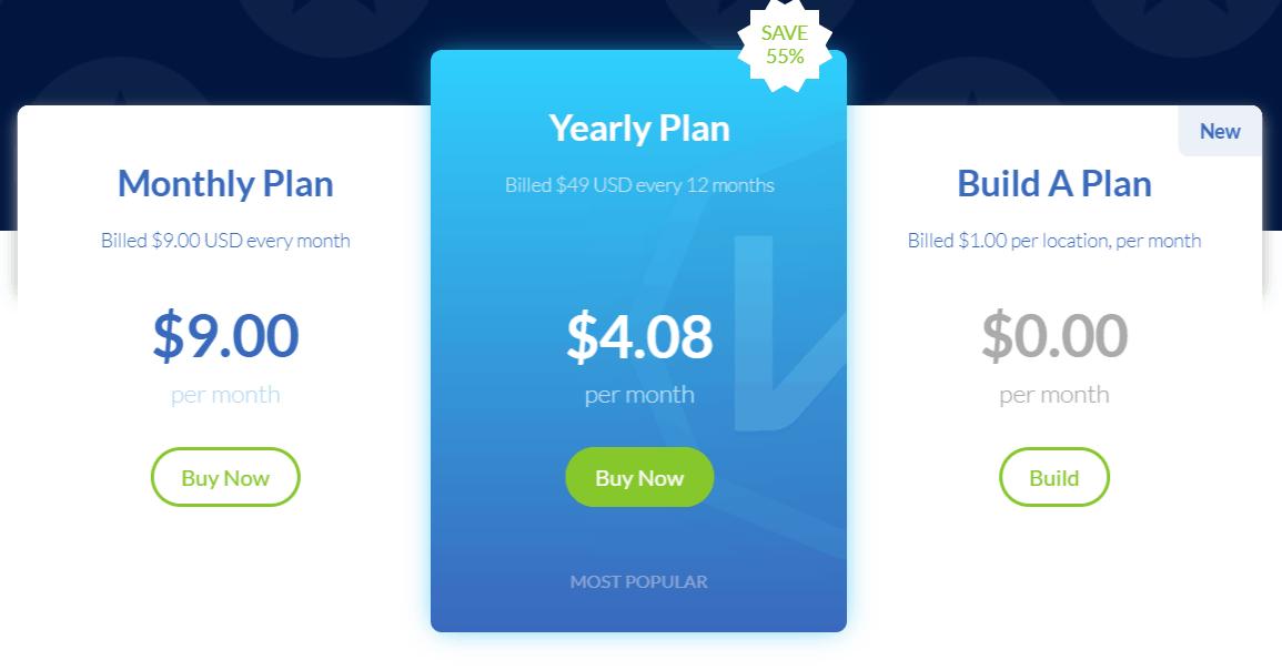 Windscribe VPN pricing image