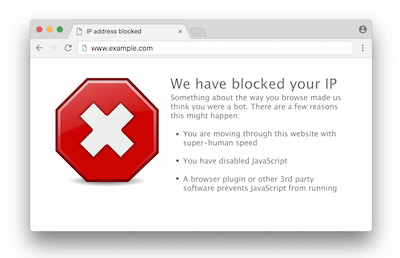 blocked ip in browser