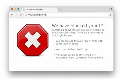 blocked ip in browser