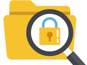 data privacy protection vector image