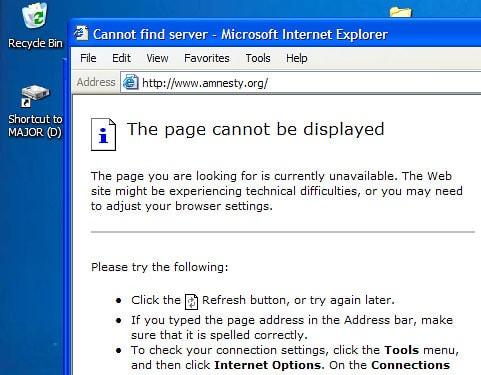 Geo-blocked website