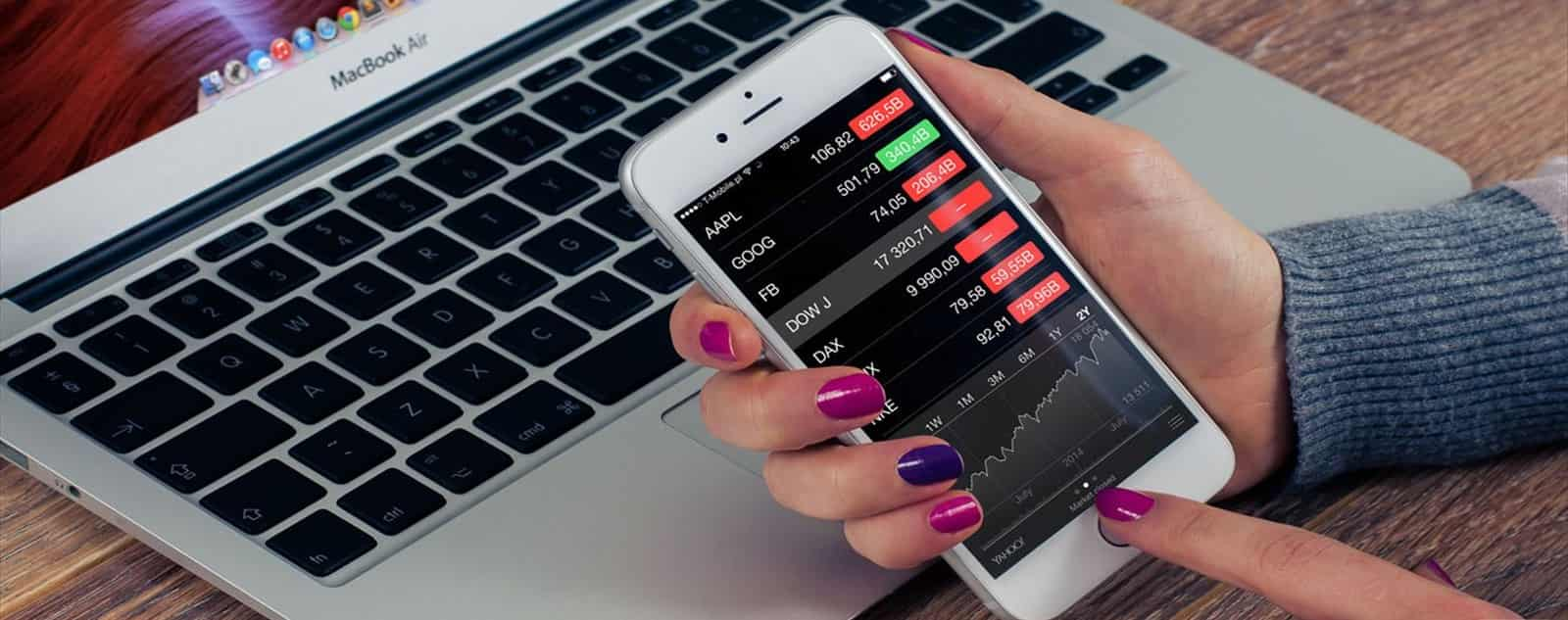 trading online using a smartphone