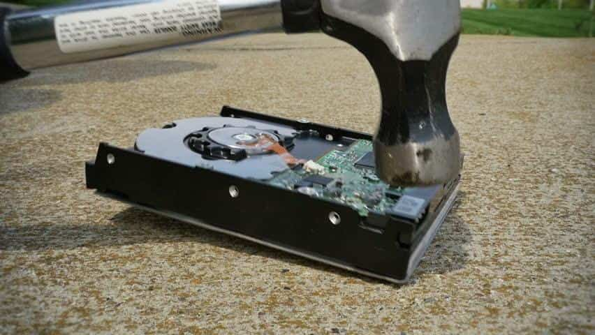 Destroying a Hard Drive