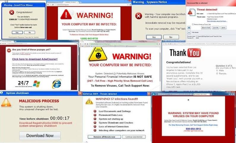Malware Popups