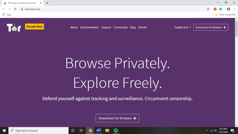 Tor Browser Homepage