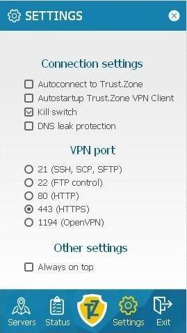Trust.Zone Settings