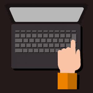 laptop keyboard press vector