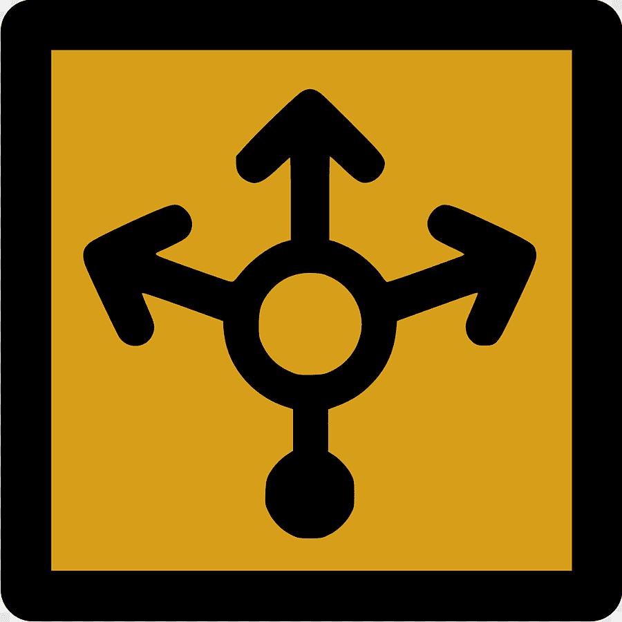 Proxy server represented through arrows icon